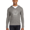 mens hoody 12365 light grey with soft white ink
