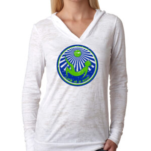 Womens Seattle Burnout Hoody