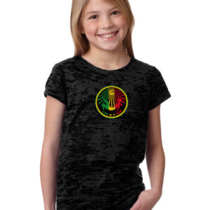 Girls Rasta Burnout Tee