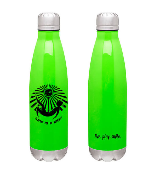 Life Is A Kick Thermal Bottle - Green