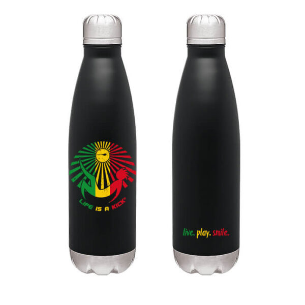 black rasta thermal bottle