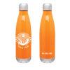 orange white thermal bottle