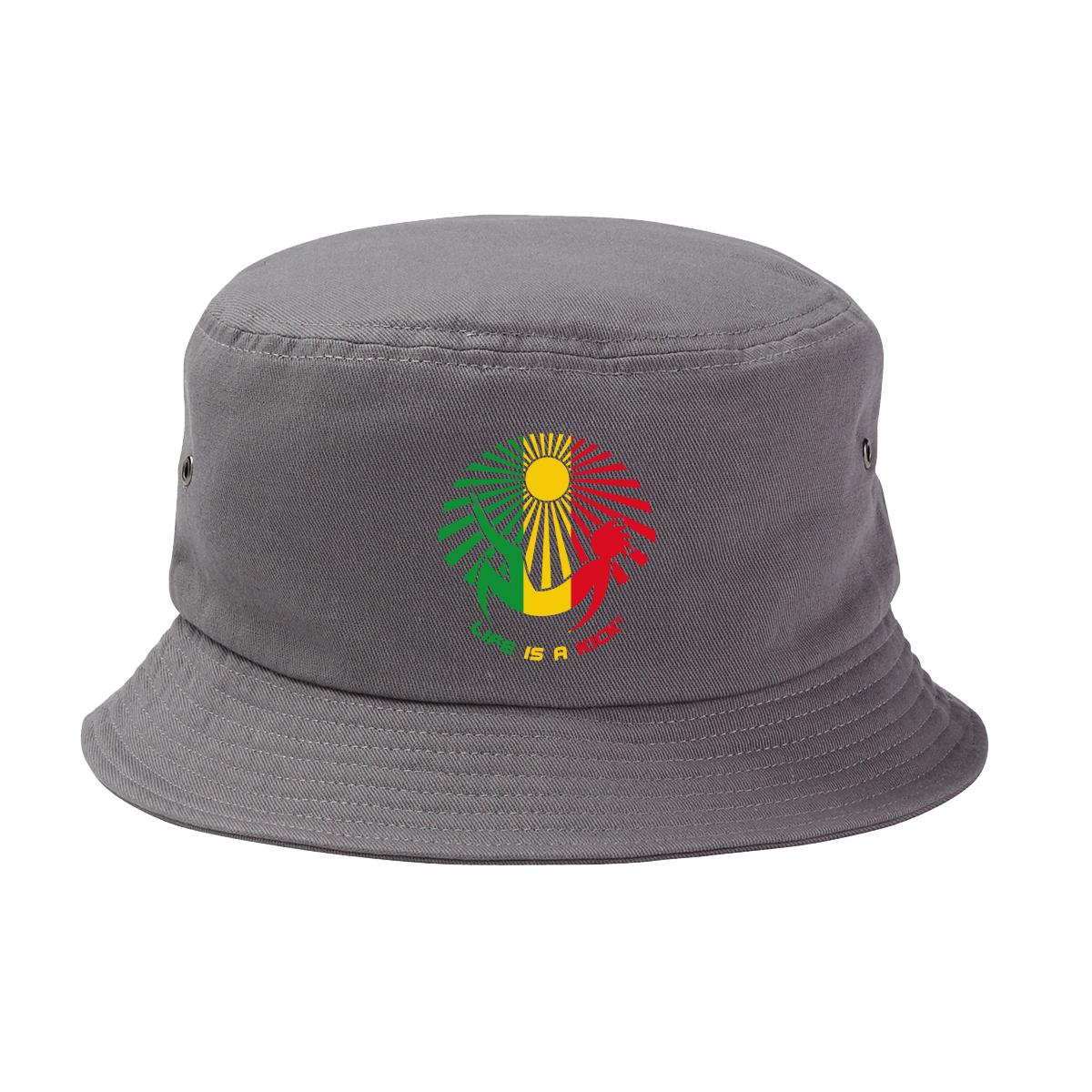 "Rasta"" Bucket Hat – Charcoal « Life is a Kick 615be5a94eb7"